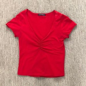 Brandy Melville Gina red top cinched front